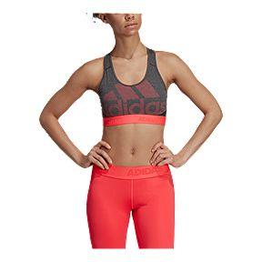 c2f14e7c052f4 adidas Women's Don't Rest Alphaskin Logo Mid Sports Bra