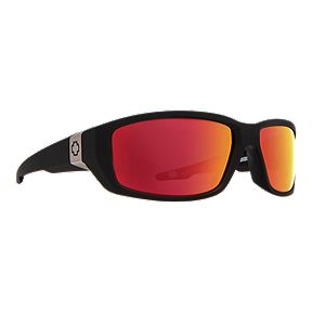 e359f37be7 Spy Dirty Mo Matte Black Sunglasses - Happy Rose w Red Spectra Mirror