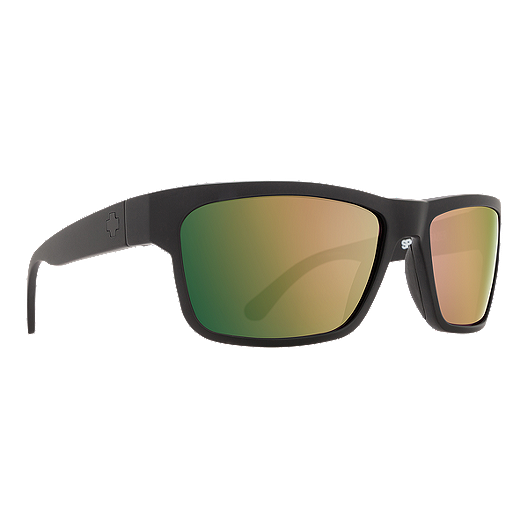 2384ea776 Spy Frazier Matte Black Sunglasses - Happy Rose Polarized w Green/Gold  Spectra | Sport Chek