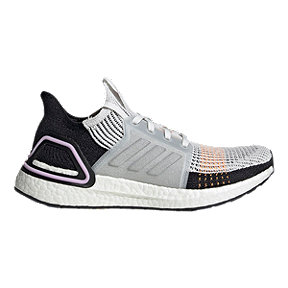 adidas Women's Ultraboost 19 Running Shoes - White/Black/Pink