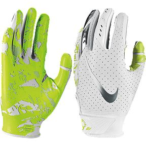 Nike Youth Vapor Jet 5.0 Football Glove - White Chrome 29fccd23e9