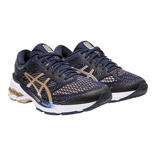 ASICS Women's GEL Kayano 26 D Running Shoes BlackBlueAlmond