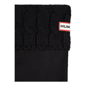 Hunter Women's Original Short Six Stitch Cable Rain Boot Socks - Black
