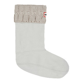 Hunter Women's Original Short Six Stitch Cable Rain Boot Socks - Greige