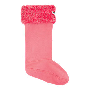 Hunter Women's Original Sheepy Fleece Cuff Boot Socks - Hyper Pink/Black