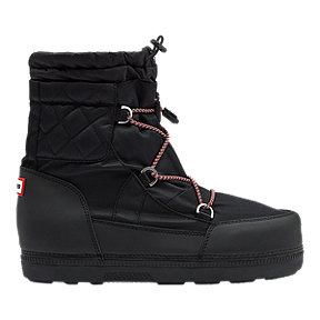 Hunter Women's Original Quilted Snow Boots - Black