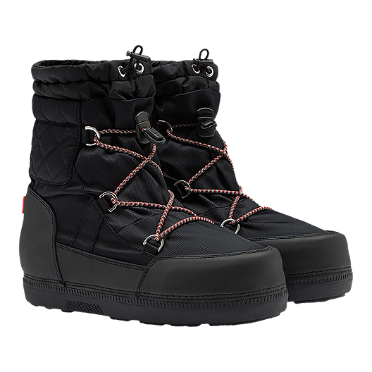 f35605f15ae6 Hunter Women s Original Quilted Snow Boots - Black