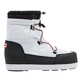 Hunter Women's Original Quilted Snow Boots - White/Black