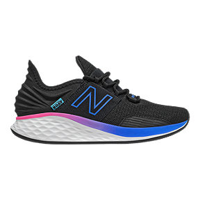 New Balance Women's Fresh Foam ROAV Running Shoes - Black/Blue/Pink