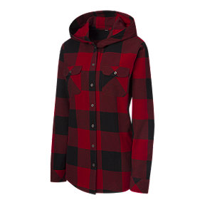 Ripzone Women's Brooke Hooded Flannel - Red