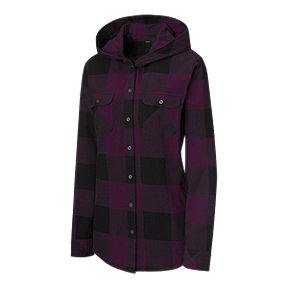 Ripzone Women's Brooke Hooded Flannel - Purple