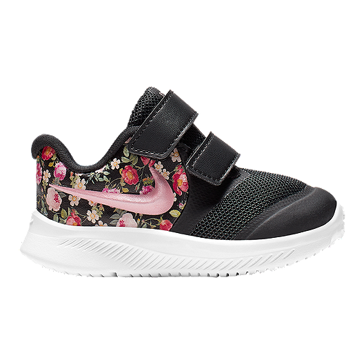 cf2df8307e66d Nike Girl Toddler Star Runner 2 Vintage Floral Shoes - Obsidian/Fuchsia