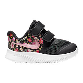 Nike Girl Toddler Star Runner 2 Vintage Floral Shoes - Obsidian/Fuchsia