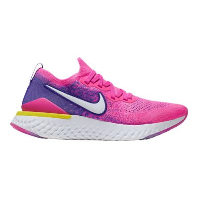 nike women's epic react flyknit running shoes pink