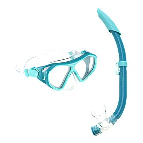 500f7a779b91 Aqua Lung Urchin Junior Snorkel Set - Dark Green Turquoise