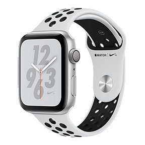 Apple Watch Nike+ Series 4 GPS 44mm with Silver/Pure Platinum/Black Nike Sport Band