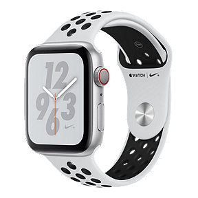 Apple Watch Nike+ Series 4 GPS+Cellular 44mm with Silver/Pure Platinum/Black Nike Sport Band