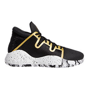 adidas Boys' Pro Vision Grade School Basketball Shoes - Core Black/White/Gold Metallic