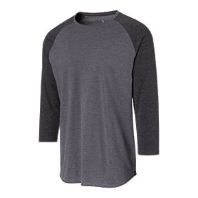 Ripzone Men's Rebel Baseball Raglan - Black Grey