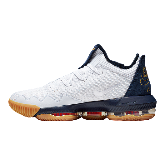 new product 1cb83 64a6d Nike Men's LeBron XVI Low Cut Basketball Shoes - White/Gold/Navy