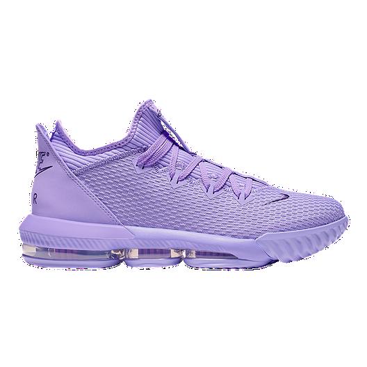 finest selection f11fa 043f5 Nike Men's LeBron XVI Low Cut Basketball Shoes - Violet/Purple