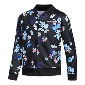 adidas Girls' Floral AOP Tricot Jacket