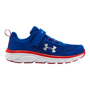Under Armour Boys' Assert 8 AC Pre-School Shoes - Royal Blue/Red/White
