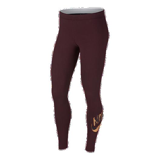 d7d6e8a598934 Nike Sportswear Women's Metallic Graphic Leggings   Sport Chek