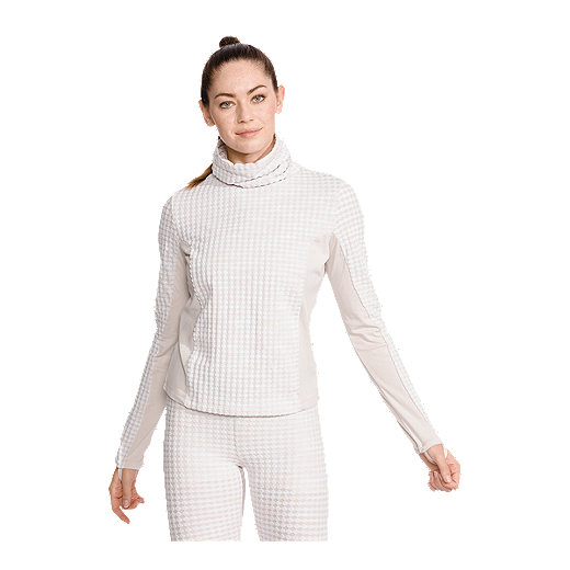 9e66e62823e31 Nike Pro Women's Hyperwarm Brushed Long Sleeve Shirt - DESERT SAND