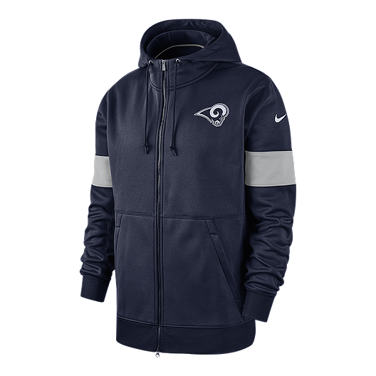 first rate 54bda 4abd4 Los Angeles Rams Men's Nike Therma Full Zip Hoodie | Sport Chek
