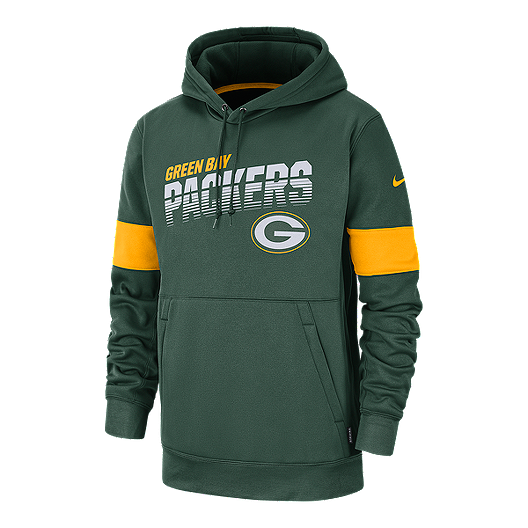 cheap for discount cf275 006ef Green Bay Packers Men's Nike Therma Pullover Hoodie