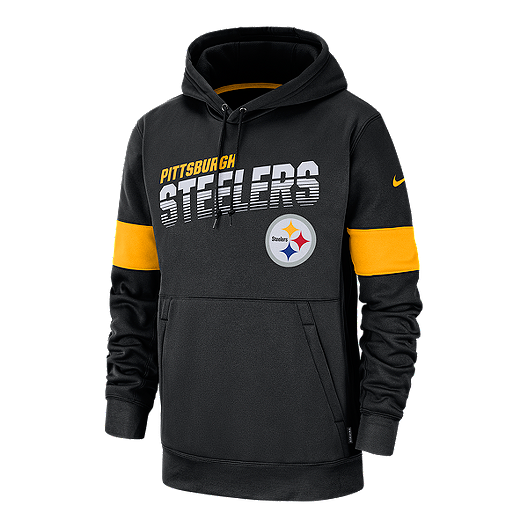 buy popular 5e54a 13749 Pittsburgh Steelers Men's Nike Therma Pullover Hoodie ...