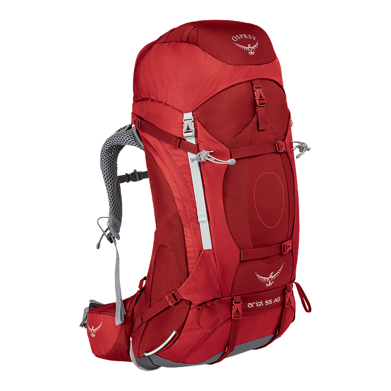4ccd80aa11a5 Osprey Women s Ariel AG 55L Backpack - Red