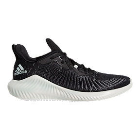 adidas Men's Alpha Bounce Parley Running Shoes - Black/Green