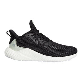 adidas Men's Alpha Boost Parley Running Shoes - Black/Green/White