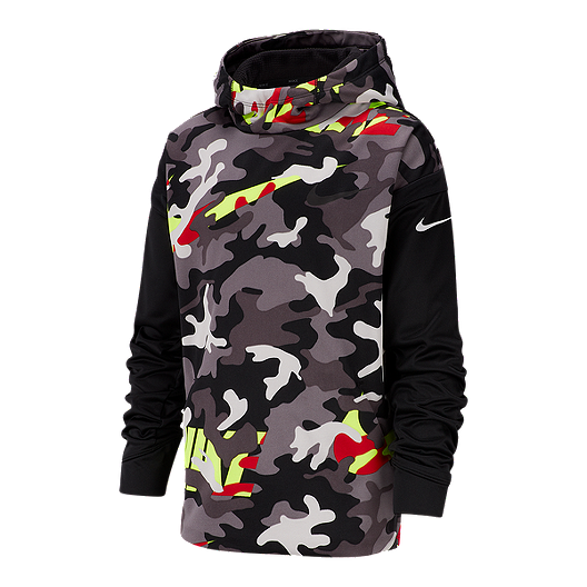 Nike Little Boys Dri-Fit Therma Fleece Hoodie Pullover Sweatshirt