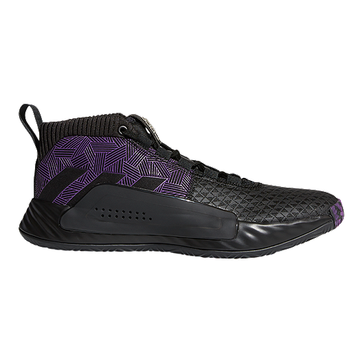 new style 84f4a da3e4 adidas Men s Marvel Black Panther Dame 5 Basketball Shoes - Black Purple Silver    Sport Chek
