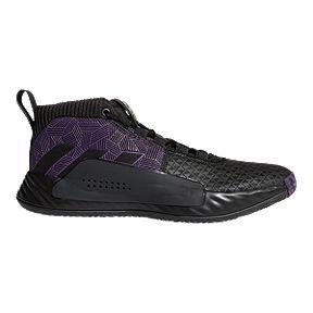 22956c7385af1 adidas Men s Marvel Black Panther Dame 5 Basketball Shoes -  Black Purple Silver