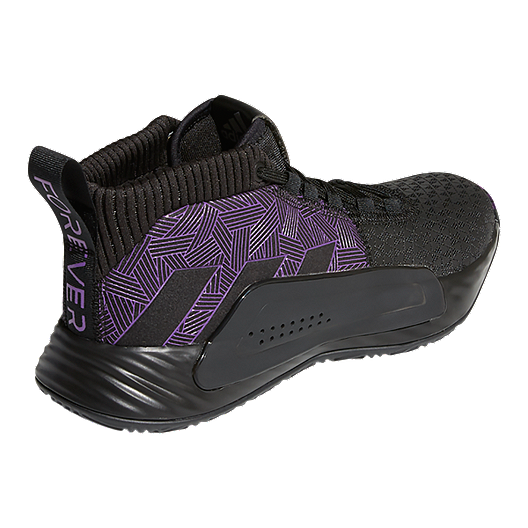 3aad59bafca77 adidas Men s Marvel Black Panther Dame 5 Basketball Shoes - Black Purple Silver.  (0). View Description