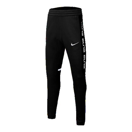 79fb989357472 Nike Dri-FIT Therma Elite Boys' Basketball Pants - BLACK/WHITE