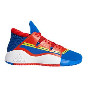 867cc8f07191 adidas Men s Captain Marvel Pro Vision Basketball Shoes - Blue Red Yellow