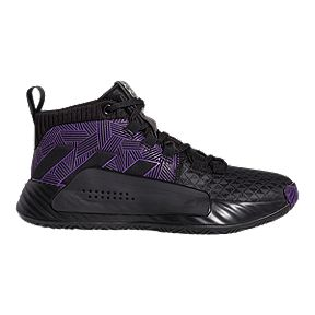 f70c3b4c36ac adidas Boys  Marvel Black Panther Dame 5 Grade School Basketball Shoes -  Core Black