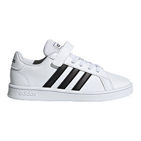 adidas Boys' Grand Court AC Pre-School Shoes - White/Core Black