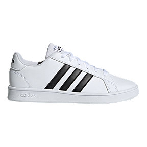 adidas Boys' Grand Court Shoes - White/Black