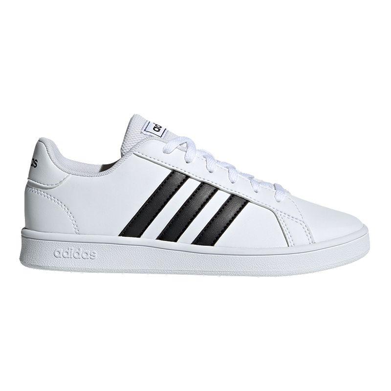 adidas Boys' Grand Court Shoes - White/Black