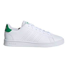 adidas Boys' Advantage Grade School Shoes - White/Green