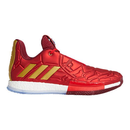 dc4990c7 adidas Men's Marvel Iron Man Harden Vol. 3 Basketball Shoes - Red/Gold |  Sport Chek