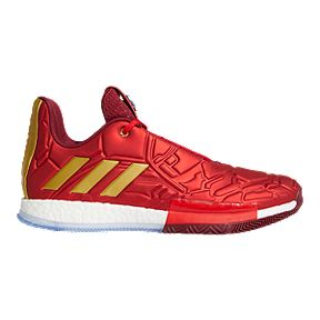 timeless design cc938 b187b adidas Men s Marvel Iron Man Harden Vol. 3 Basketball Shoes - Red Gold