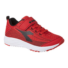 Diadora Boys' Flamingo AC Pre-School Shoes - Red/Black