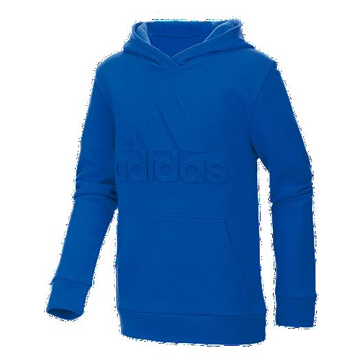 43b10f4ad8c8 adidas Girls' 2-4 Embossed Pullover Hoodie